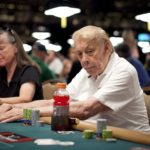 Jerry Buss, Los Angeles Lakers owner, playing the WSOP