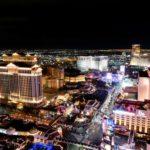Crowded Night City Las Vegas